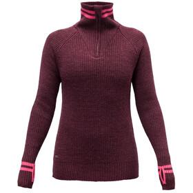 Devold Varde Zip Neck Sweater Dame plum